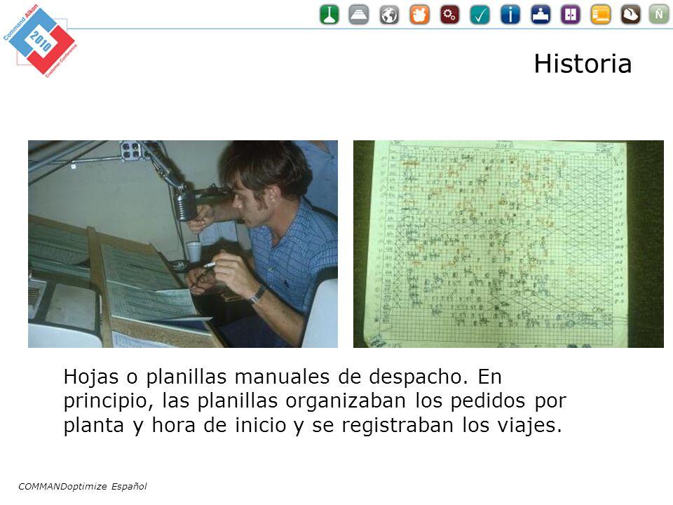 Historia Hojas o planillas manuales de despacho. En principio, las planillas organizaban los pedidos por planta y hora de inicio y se registraban los