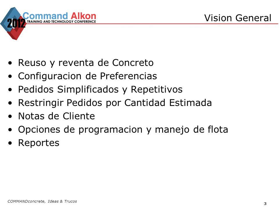 COMMANDconcrete, Ideas & Trucos 4 Cancelar/Ajustar Cantidad en Tiquetes.