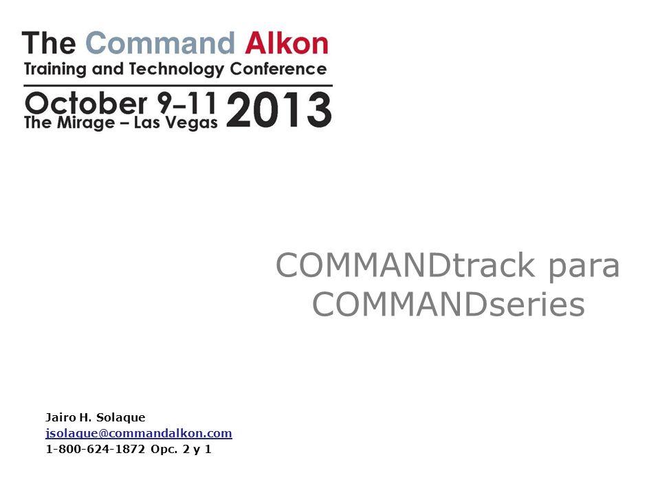 COMMANDtrack para COMMANDseries 2 Esta sesión le guiará a través de las funciones y características de COMMANDtrack, nuestra aplicación preferida para programación y seguimiento de COMMANDconcrete.