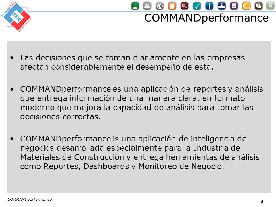 COMMANDperformance – Beneficios Information en línea – Dashboards que se accesan via browser.