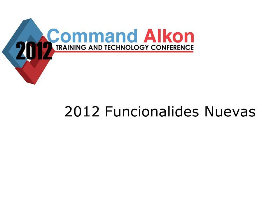 2012 Funcionalides Nuevas