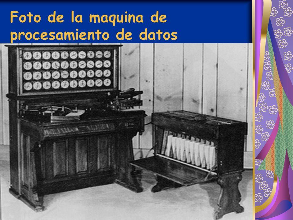 Foto de la maquina de procesamiento de datos