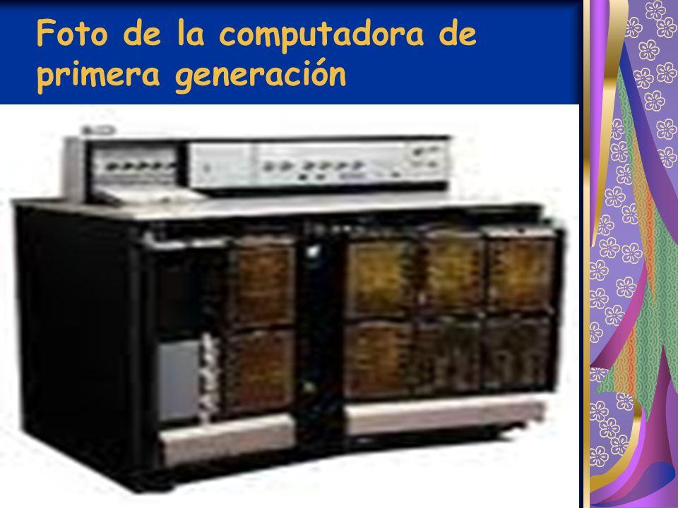 Foto de la computadora de primera generación
