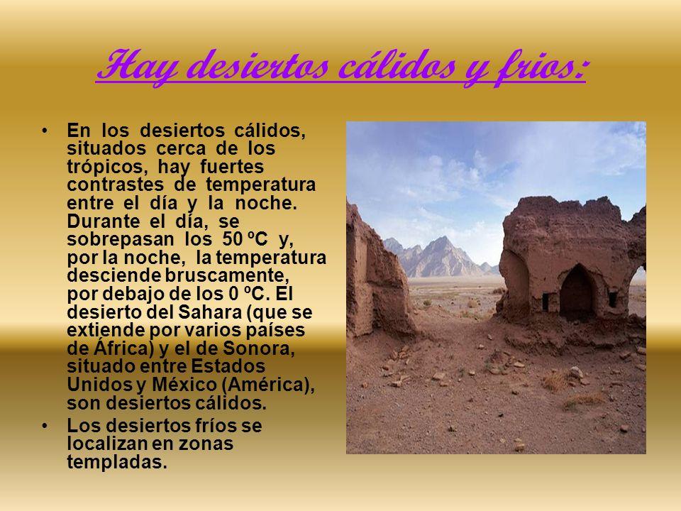 ¿Cómo se forman los desiertos.Los vientos secos, que azotan las rocas y las erosionan.