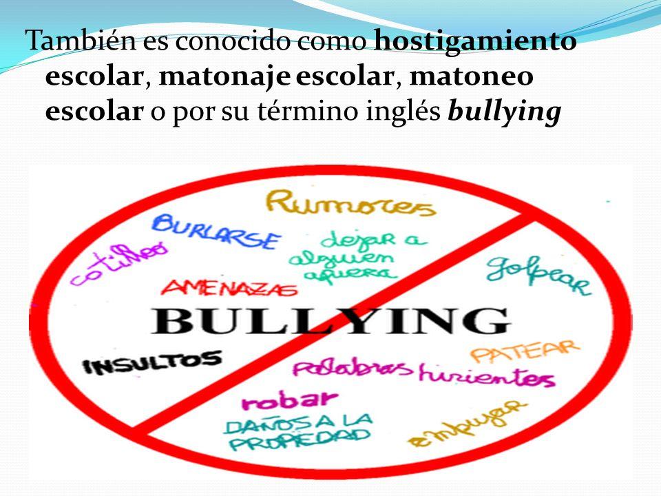 Causas y consecuencias del bullying Personales: Un niño que actúa de manera agresiva sufre intimidaciones o algún tipo de abuso en la escuela o en la familia.