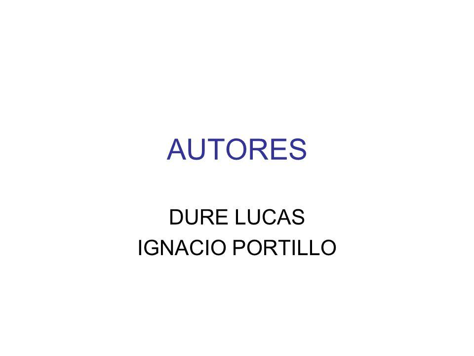 AUTORES DURE LUCAS IGNACIO PORTILLO