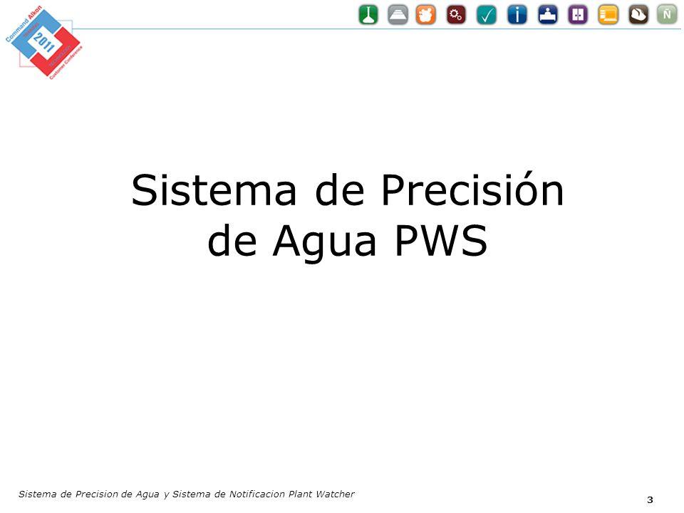 Sistema de Precisión de Agua PWS Sistema de Precision de Agua y Sistema de Notificacion Plant Watcher 3