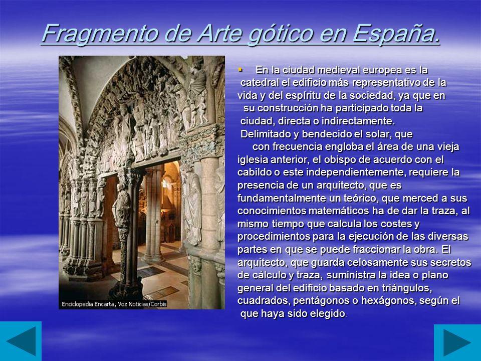 Fragmento de Arte gótico en España.