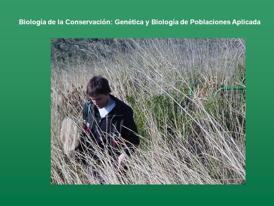 Biología de la Conservación: Genética y Biología de Poblaciones Aplicada