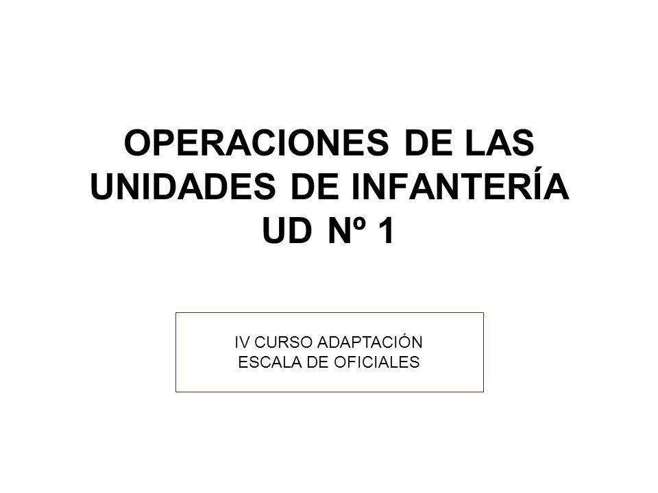 IV CURSO ADAPTACIÓN ESCALA DE OFICIALES OPERACIONES DE LAS UNIDADES DE INFANTERÍA UD Nº 1