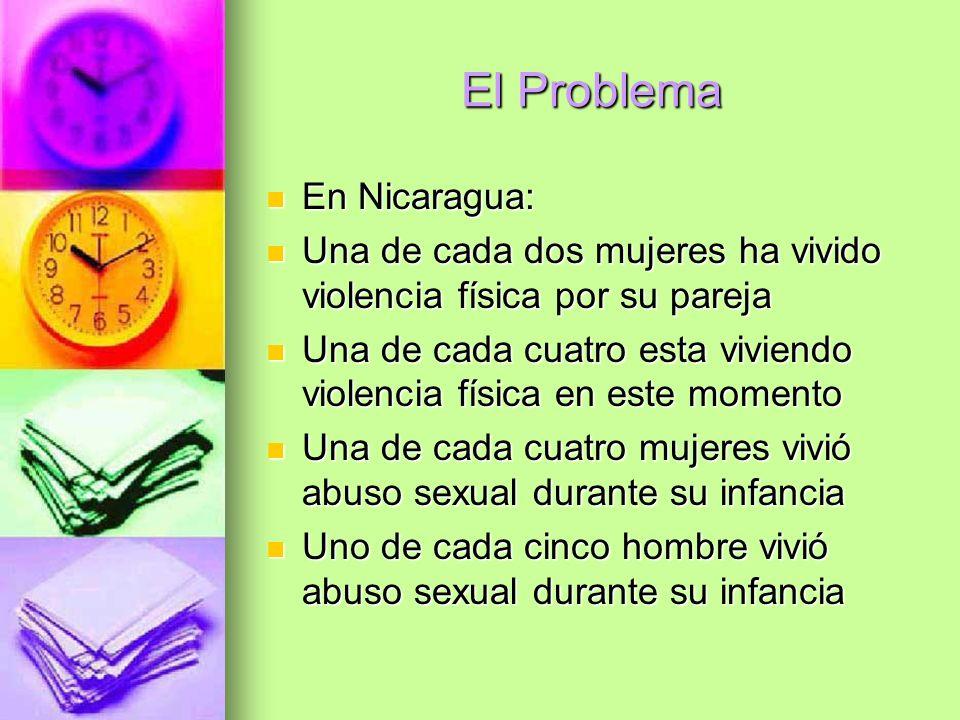 El Problema En Nicaragua: En Nicaragua: Una de cada dos mujeres ha vivido violencia física por su pareja Una de cada dos mujeres ha vivido violencia f