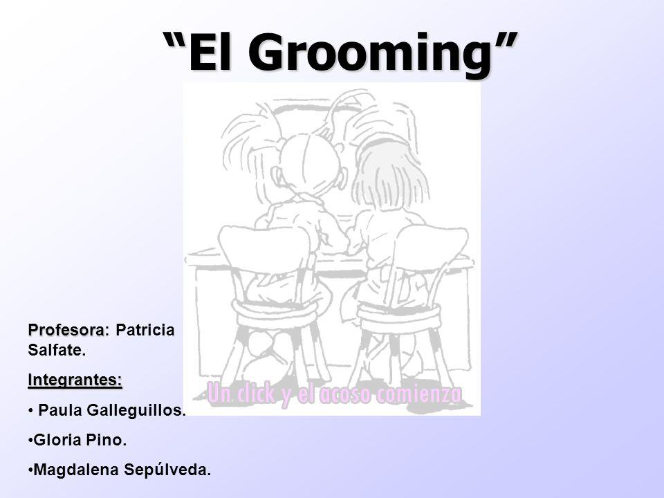 El Grooming Profesora Profesora: Patricia Salfate.Integrantes: Paula Galleguillos. Gloria Pino. Magdalena Sepúlveda.