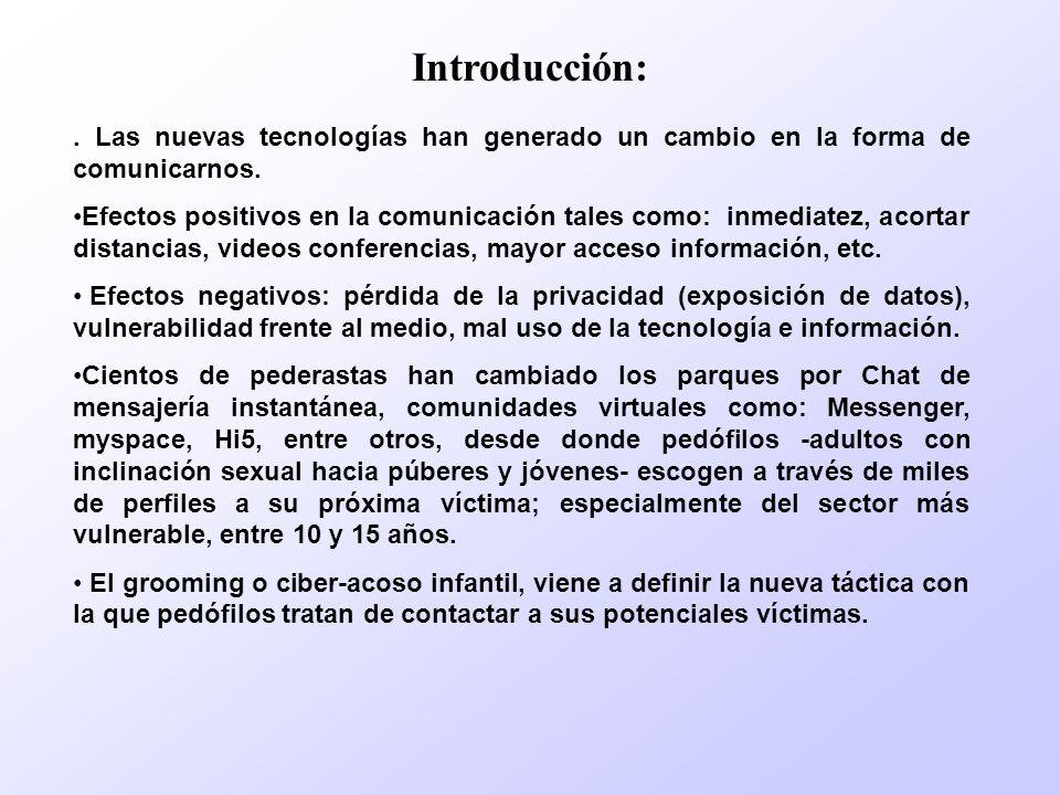 Introducción:. Las nuevas tecnologías han generado un cambio en la forma de comunicarnos. Efectos positivos en la comunicación tales como: inmediatez,