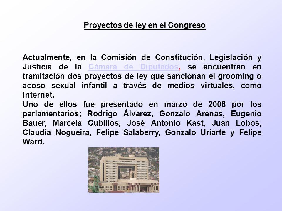 Proyectos de ley en el Congreso Actualmente, en la Comisión de Constitución, Legislación y Justicia de la Cámara de Diputados, se encuentran en tramit