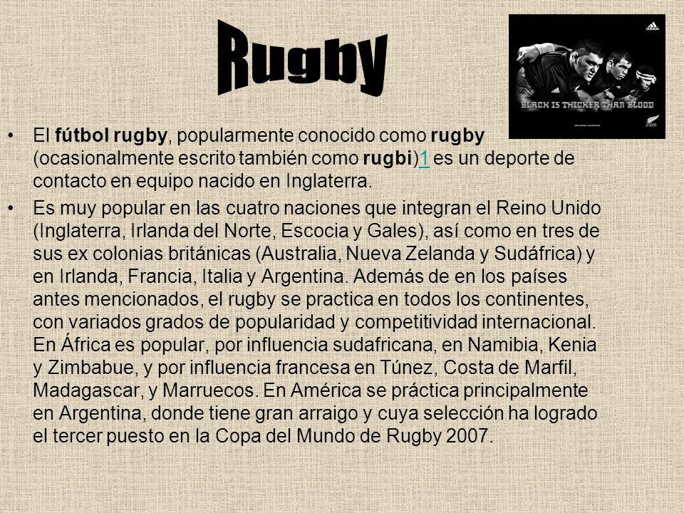 La Copa del Mundo de Rugby es la competición internacional de la Unión Internacional de Rugby (IRB, por sus siglas en inglés).