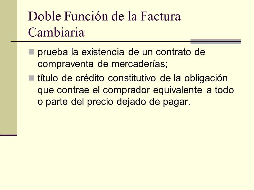 Doble Función de la Factura Cambiaria prueba la existencia de un contrato de compraventa de mercaderías; título de crédito constitutivo de la obligaci
