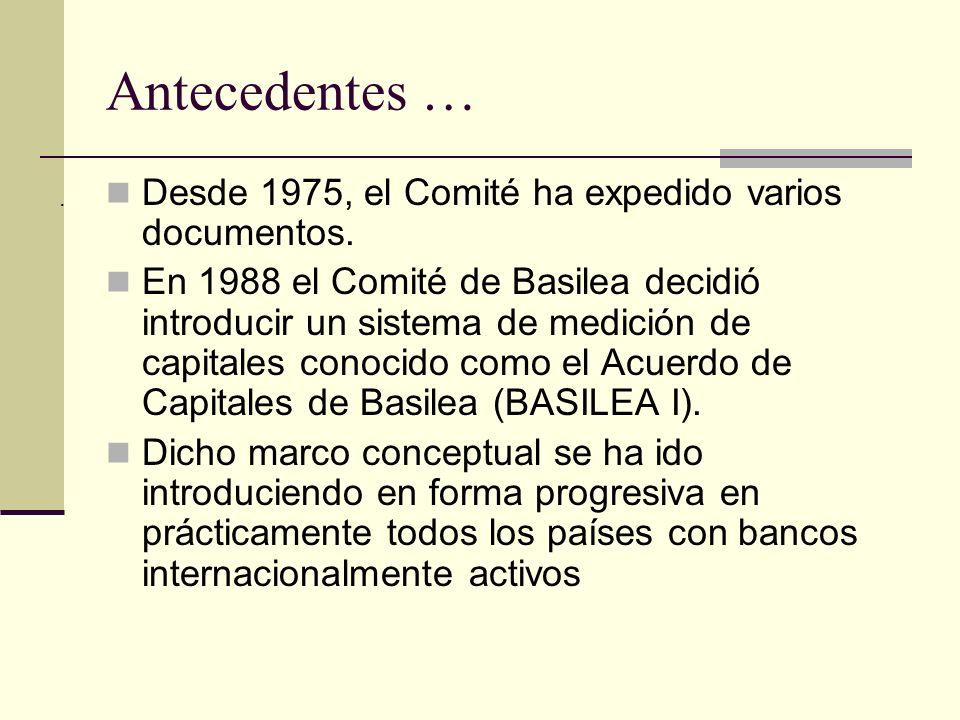 Desde 1975, el Comité ha expedido varios documentos.