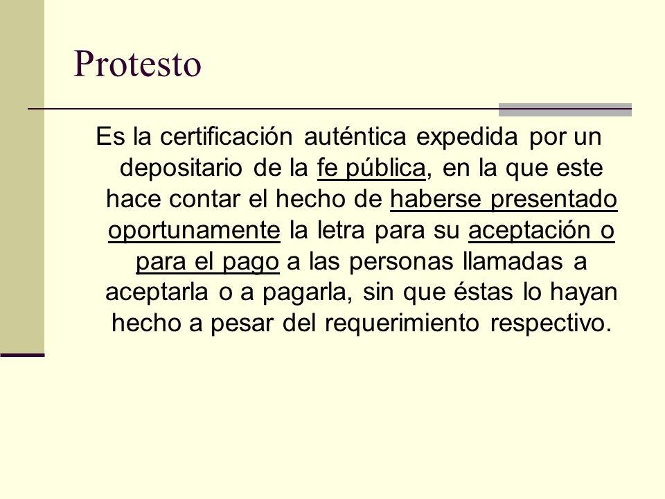 Clasificación Letra de cambio domiciliada: (art.448 C.