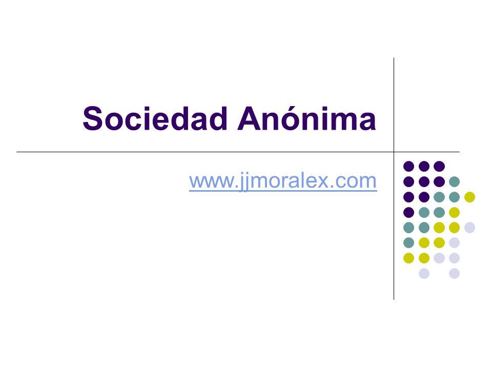 Sociedad Anónima www.jjmoralex.com