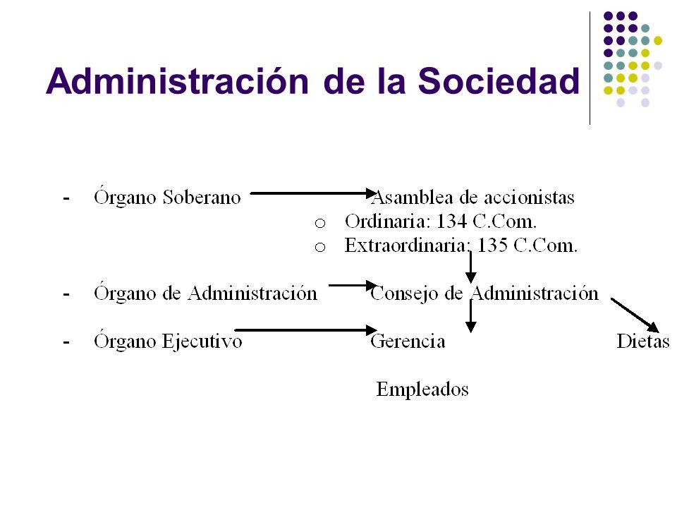 Administración de la Sociedad