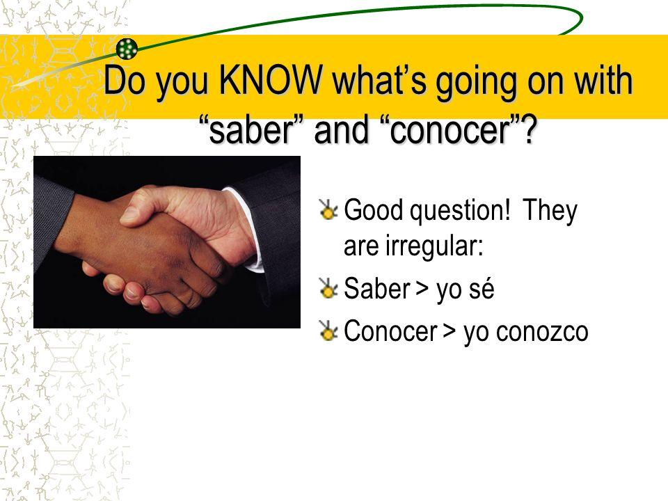 Go for it! Hacer > yo hago Poner > yo pongo Decir > yo digo Salir > yo salgo