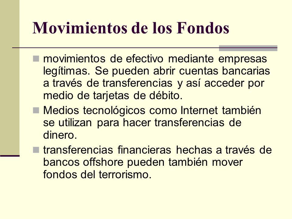 Movimientos de los Fondos movimientos de efectivo mediante empresas legítimas. Se pueden abrir cuentas bancarias a través de transferencias y así acce