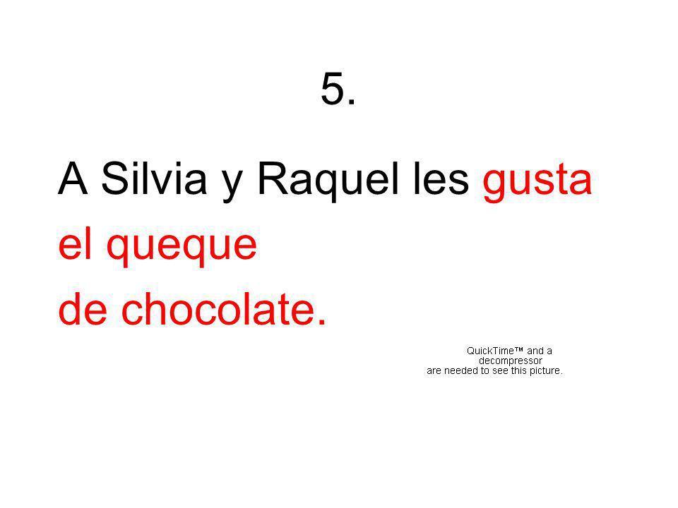 5. A Silvia y Raquel les gusta el queque de chocolate.