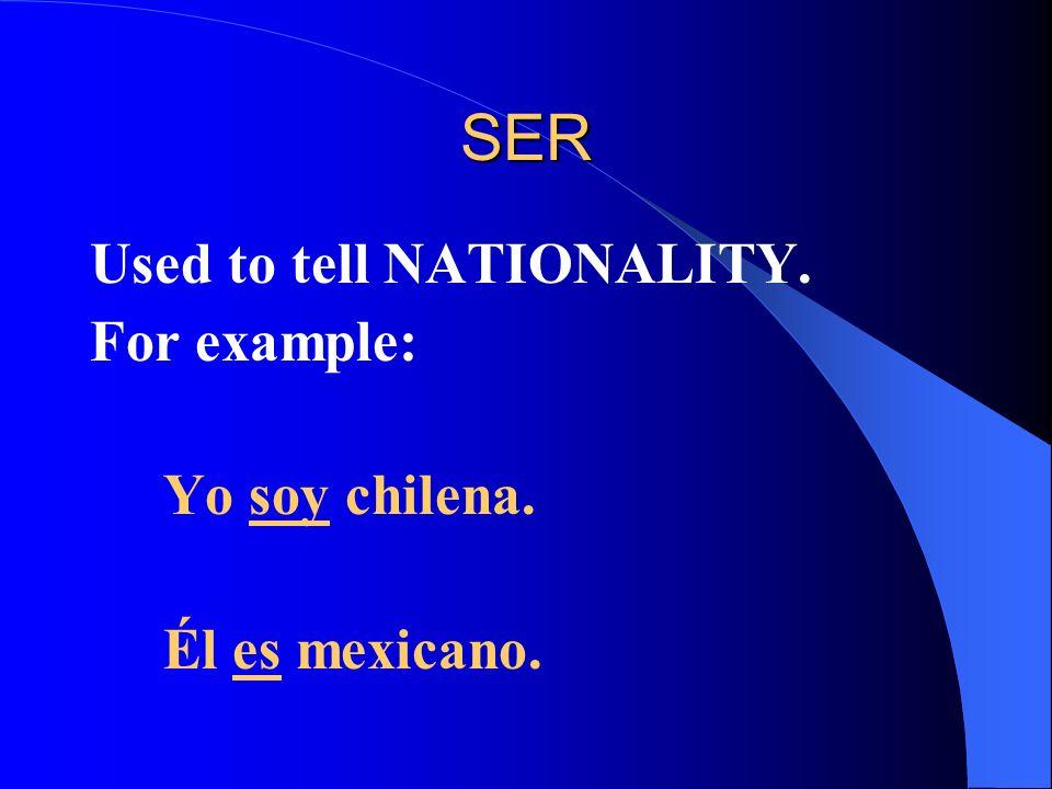 TENER = TO HAVE Yo- TENGO Tú- TIENES Usted Él TIENE Ella One specific name Nosotros Nosotras TENEMOS Ustedes Ellos TIENEN Ellas 2 or more specific names
