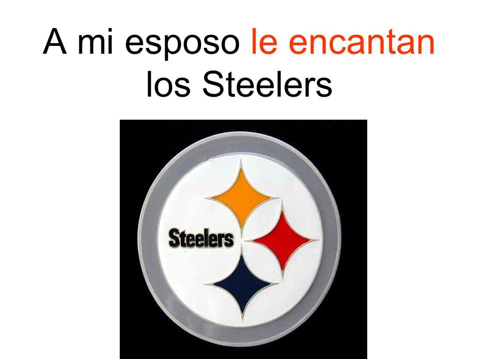 A mi esposo le encantan los Steelers