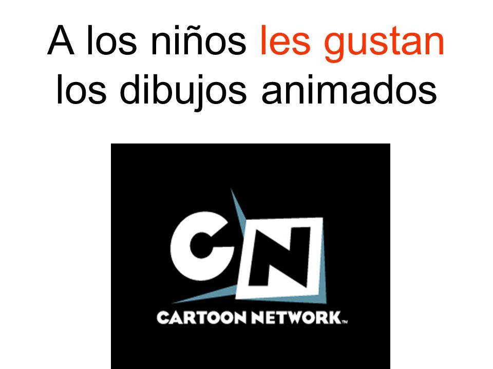 A los niños les gustan los dibujos animados