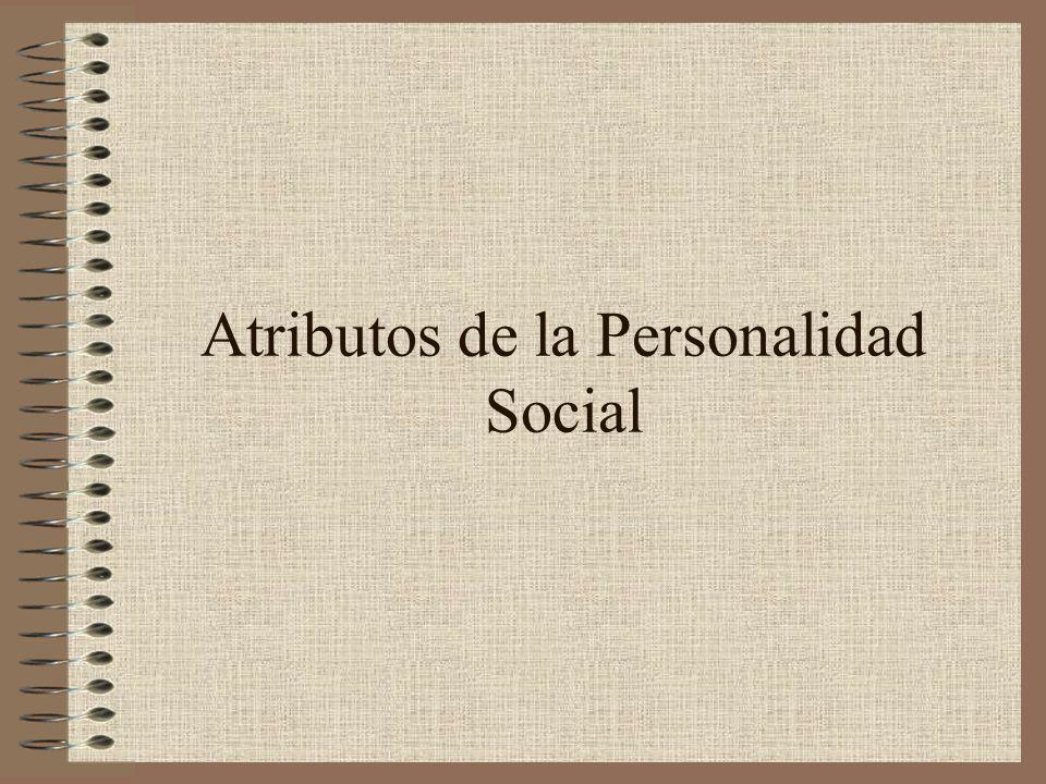 Atributos de la Personalidad Social