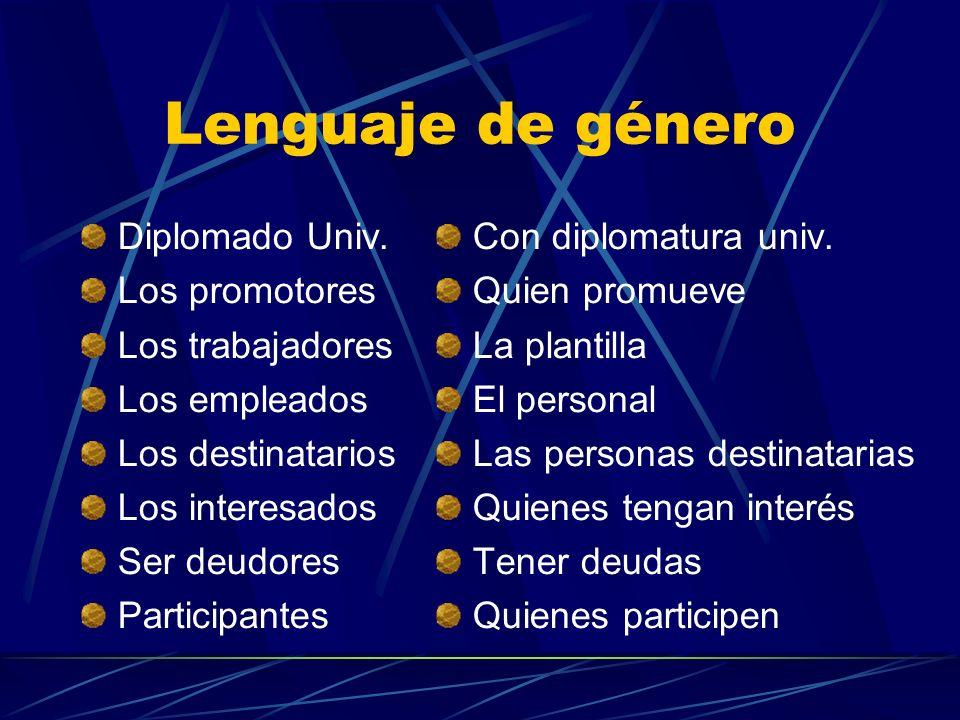 Lenguaje de género Diplomado Univ.