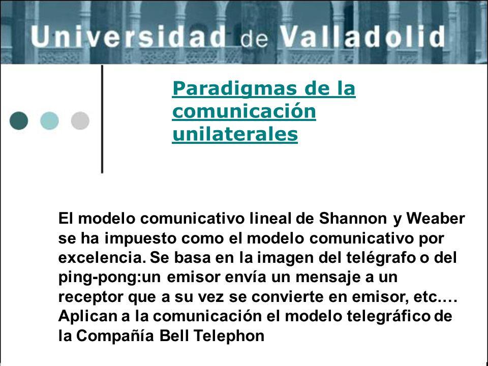 23 El modelo comunicativo lineal de Shannon y Weaber se ha impuesto como el modelo comunicativo por excelencia. Se basa en la imagen del telégrafo o d