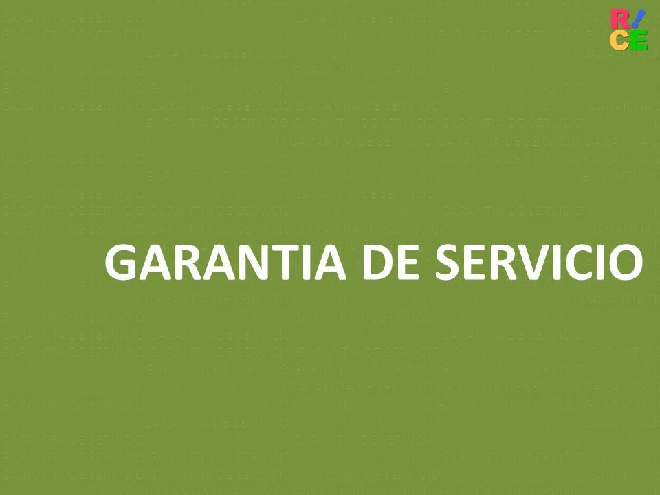 GARANTIA DE SERVICIO