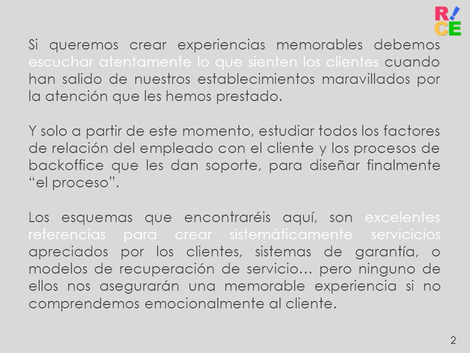 2 Si queremos crear experiencias memorables debemos escuchar atentamente lo que sienten los clientes cuando han salido de nuestros establecimientos ma