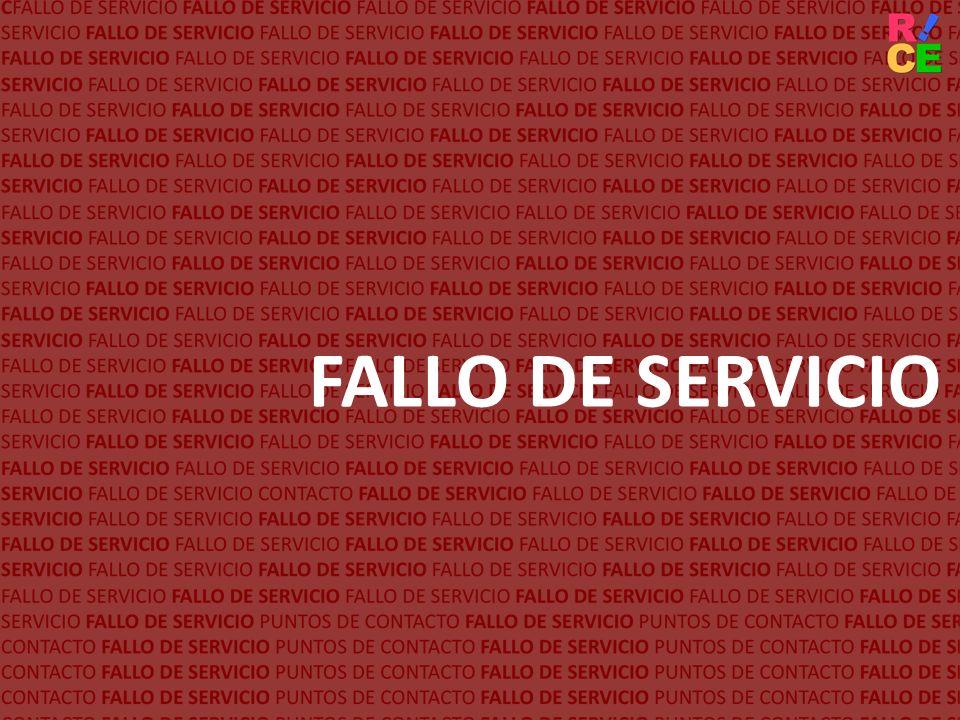FALLO DE SERVICIO
