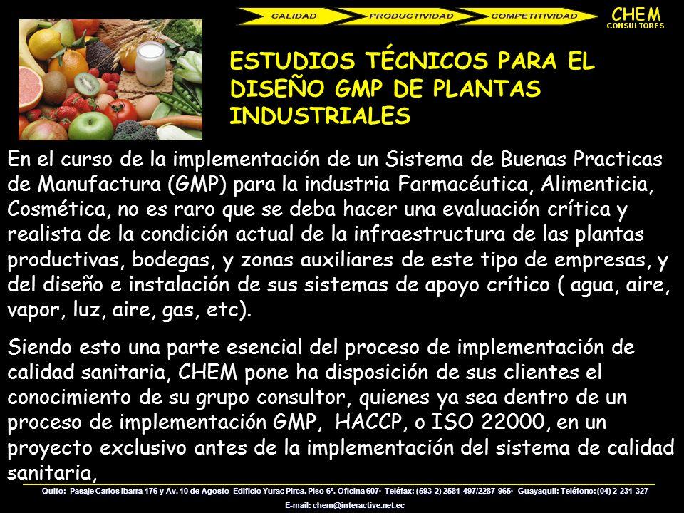 ASESORIA EN LA IMPLEMENTACION DE SISTEMA DE ASEGURAMIENTO DE CALIDAD PARA LABORATORIOS DE ENSAYO Y CALIBRACIÓN (ISO 17025) Los proyectos ISO 17025, so