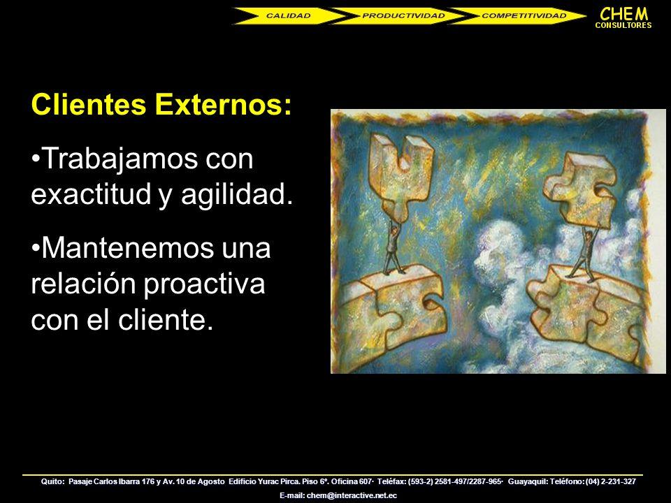 Quito: Pasaje Carlos Ibarra 176 y Av. 10 de Agosto Edificio Yurac Pirca. Piso 6º. Oficina 607· Teléfax: (593-2) 2581-497/2287-965· Guayaquil: Teléfono