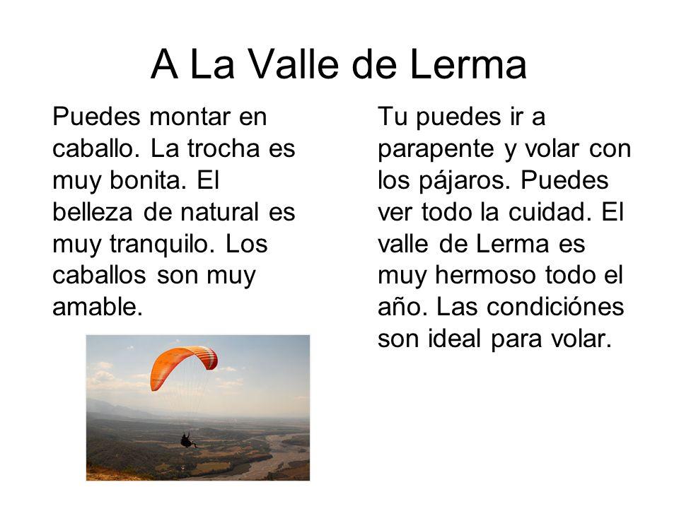 A La Valle de Lerma Tu puedes ir a parapente y volar con los pájaros.