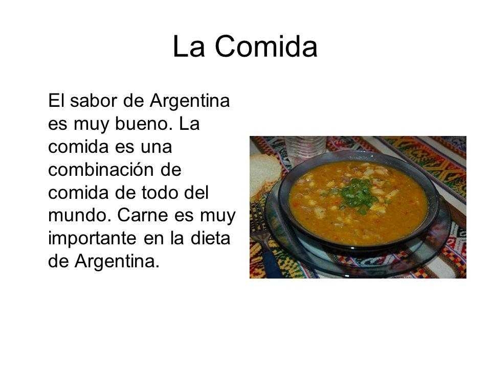 La Comida El sabor de Argentina es muy bueno.