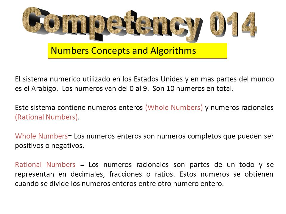 Numbers Concepts and Algorithms Multiplication Multiplication = La multiplicación es una suma repetida.