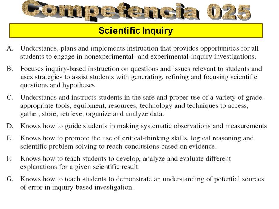 La asociación nacional de maestros de ciencias (NSTA) apoyo la idea de que la adquisición de científica debe ser un componente básico del curriculum de cada grado en America.