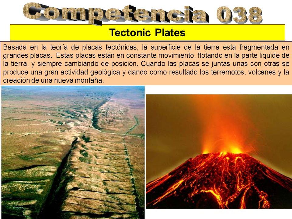 Tectonic Plates Basada en la teoría de placas tectónicas, la superficie de la tierra esta fragmentada en grandes placas.