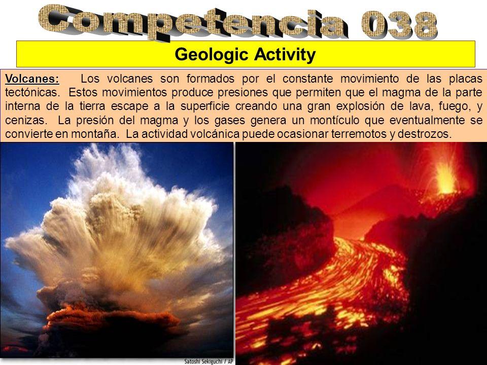 Geologic Activity Volcanes: Volcanes: Los volcanes son formados por el constante movimiento de las placas tectónicas.