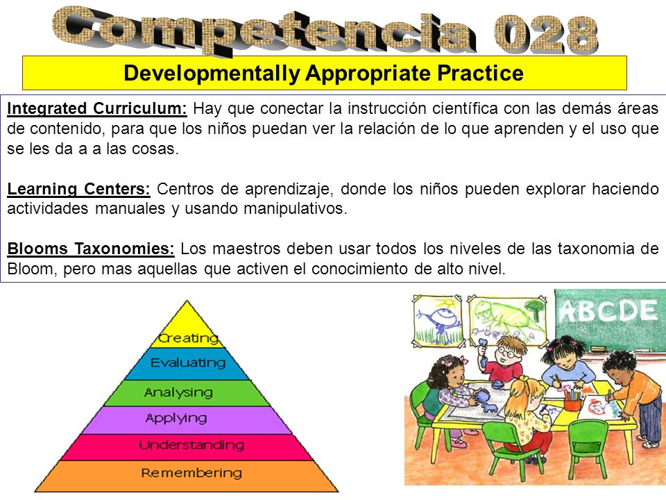 Se refiere a que los maestros tiene que saber los estados cognitivos y las edades de los niños para el aprendizaje de conceptos científicos.