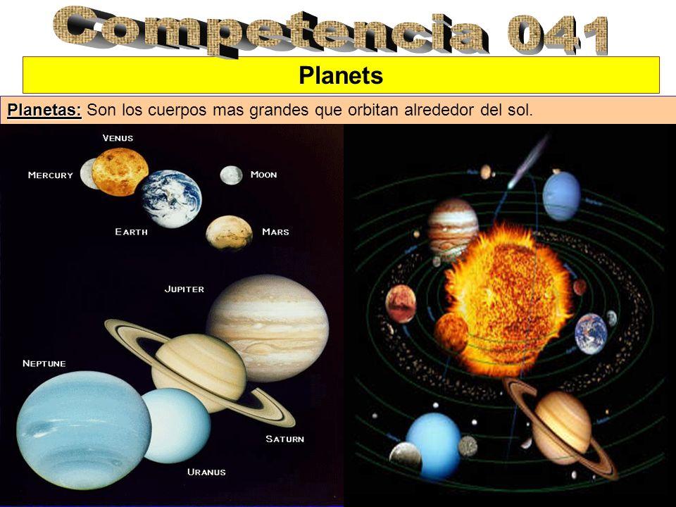 Planets Planetas: Planetas: Son los cuerpos mas grandes que orbitan alrededor del sol.