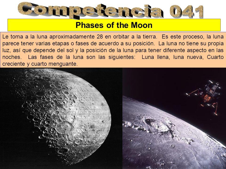 Phases of the Moon Le toma a la luna aproximadamente 28 en orbitar a la tierra. Es este proceso, la luna parece tener varias etapas o fases de acuerdo