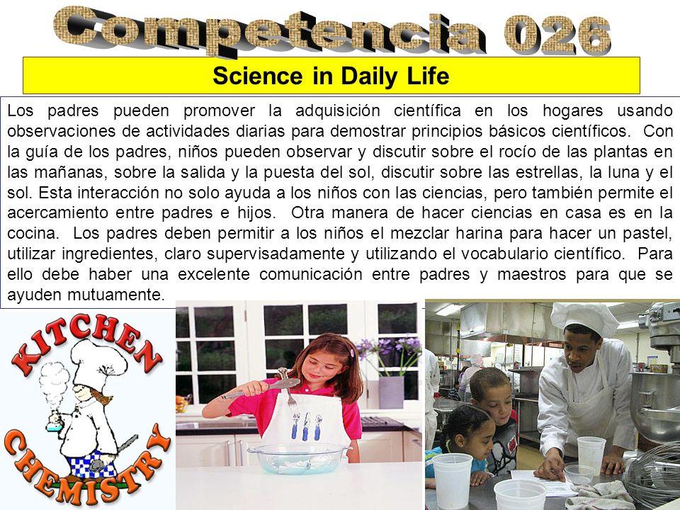 Los padres pueden promover la adquisición científica en los hogares usando observaciones de actividades diarias para demostrar principios básicos cien