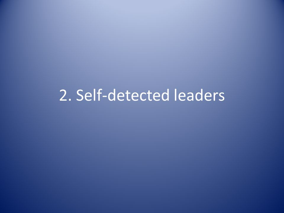 2. Self-detected leaders