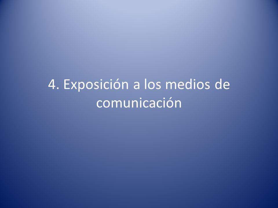 4. Exposición a los medios de comunicación